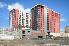 During November & December 2020. 150 Main St. Project in Hackensack grew to 14 stories, with Sisca Organization as construction manager.