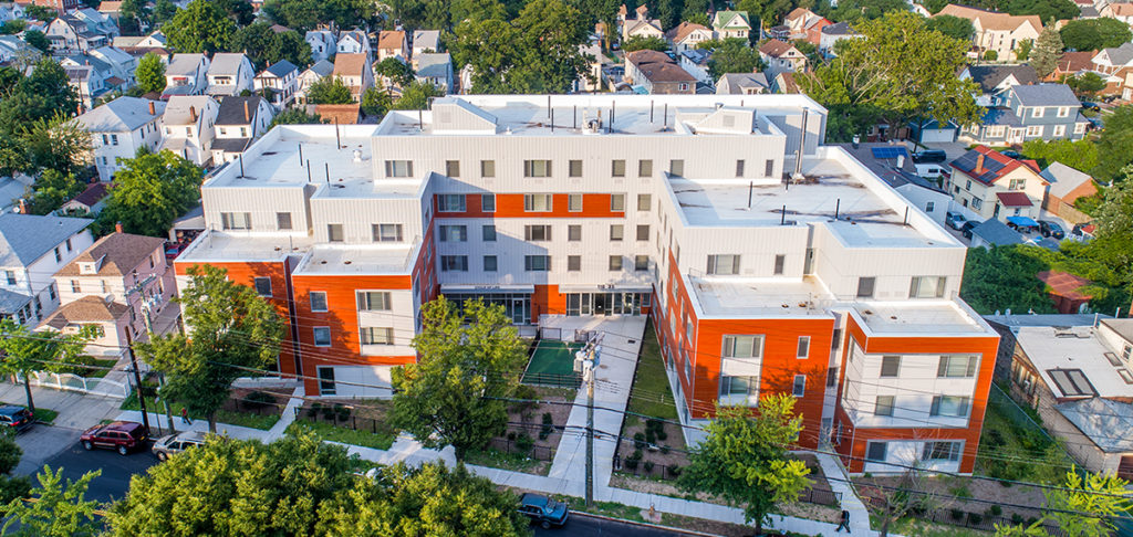 Sisca built St. Albans Cycle of Life. 80,000 square foot building with 67 units of affordable housing, St. Albans, Queens