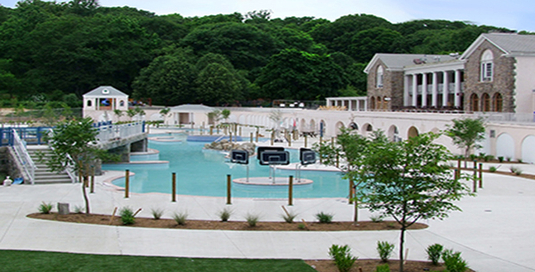 Sisca built one of the Northeast's largest outdoor water parks, including all cement work, at Tibbetts Brook Park, Yonkers, NY