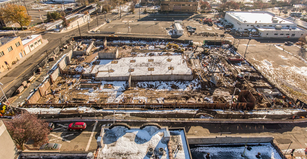 Sisca self performed first phase of concrete work on 525,000 sf, 280 units market rate housing, Hackensack, NJ